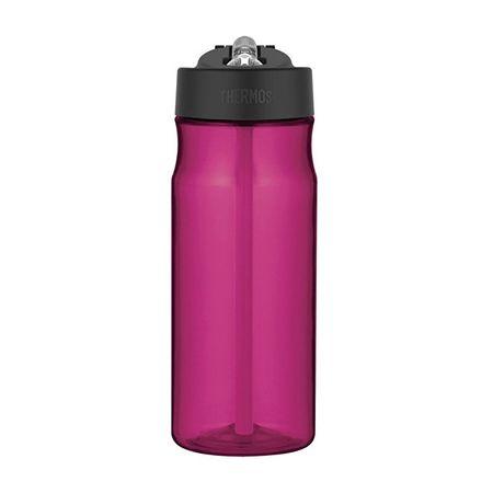 Thermos Sportowa butelka nawilżająca ze słomką - fioletowa 530 ml