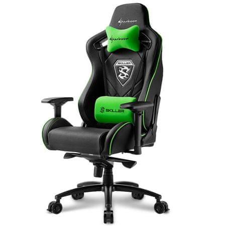 Sharkoon gamerski stolac Skiller SGS4, crni/zeleni