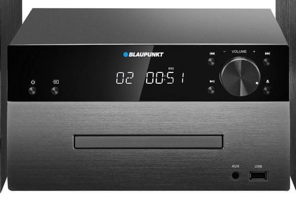 bezprzewodowa mikrowieża Bluetooth Blaupunkt ms50bt z tunerem fm z pll zapamiętuje aż 40 stacji fm cd-r rw mp3