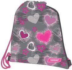 Target vrećica za papuče Grey Hearts 26276