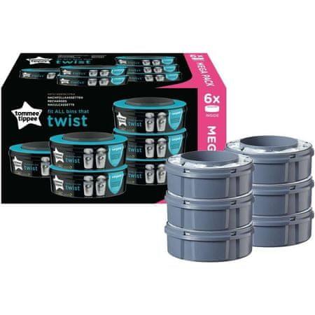 Tommee Tippee wkłady wymienne SANGENIC Twist&Click 6 szt.