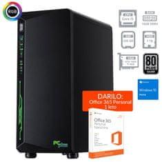 PCplus namizni računalnik Gamer i5-9400F/16GB/SSD240GB+1TB/GTX1660Ti/W10H + DARILO: Office 365 (138645)