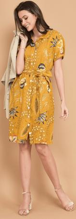 Lin Blanc női ruha Arizona 36 sárga