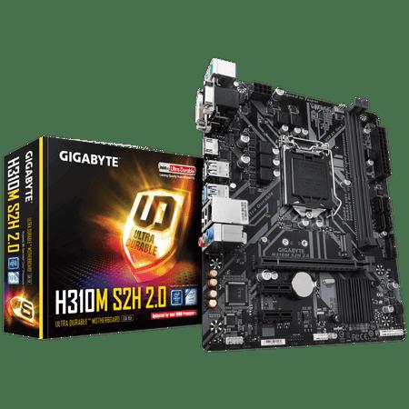 Gigabyte osnovna plošča H310M S2H 2.0, DDR4, SATA3, HDMI, USB3.1Gen1, LGA1151 mATX