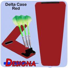 Designa Puzdro na šípky Delta Solid Case - Red Black