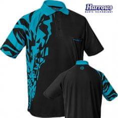 Harrows Košeľa Rapide - Black & Aqua Blue