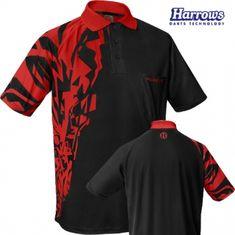 Harrows Košeľa Rapide - Black & Red