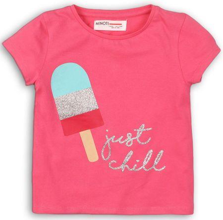Minoti dievčenské tričko 74 - 80 ružové