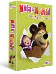 Máša a medvěd 1-4: Kolekce (4DVD) - DVD
