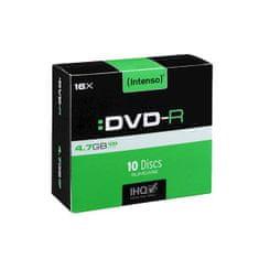 Intenso DVD-R medij, 16x, 4,7GB, 10 kos, ozka škatlica