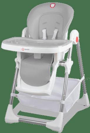 Lionelo Jídelní židlička LINN PLUS Grey