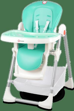 Lionelo Jídelní židlička LINN PLUS Turquoise