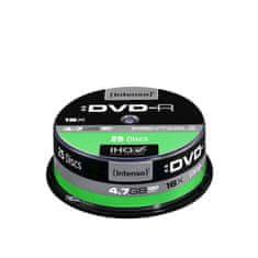 Intenso DVD-R medij 16x, 4,7GB, 25 kosov, na osi
