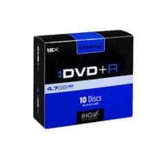 Intenso DVD+R medij, 16x, 4,7GB, ozke škatlice, 10 kosov
