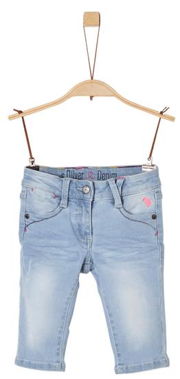 s.Oliver dievčenské capri džínsové nohavice 110 modrá