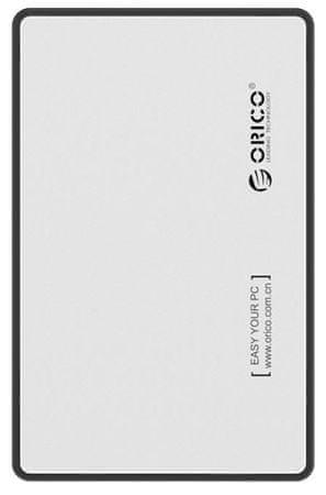 Orico zunanje ohišje za HDD/SSD 6,35 cm, SATA3, srebrno