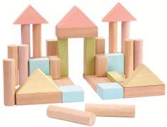 Plan Toys Stavební kostky 40 ks pastelové