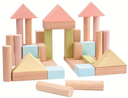 Plan Toys Építőkocka 40 db. pasztell