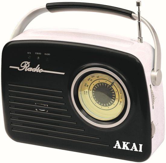 Akai APR-11R/B, černá/bílá