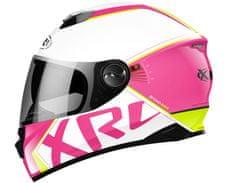 XRC přilba BEYOND RACE white/pink/fluo