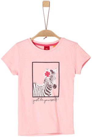 s.Oliver dívčí tričko 92 - 98 růžová