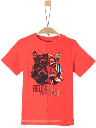 s.Oliver chlapčenské tričko 104 - 110 červená