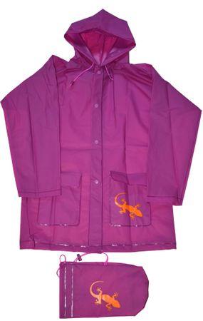 PIDILIDI dječja kišna kabanica Gušter, roza, 116