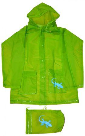 PIDILIDI dječja kišna kabanica Gušter, zelena, 140