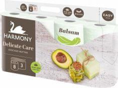 Harmony Toaletný papier DELICATE CARE Avocado 8x 8 roliek, 3 vrstvový