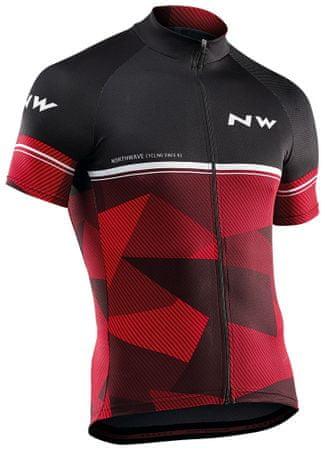 Northwave Origin Jersey Short Sleeves M černá/červená