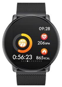 Chytré hodinky Umidigi Uwatch Milanese, atraktivní design, odolné proti poškrábání, nastavitelný vzhled ciferníku