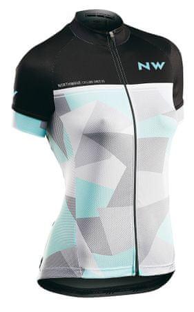 Northwave kolesarska majica Origin Woman Jersey Short Sleeves, XL, črna/siva