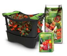 U-GREENY greda Planter Box sa zemljom i gnojivom, siva