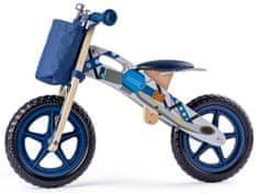 Woody bicikl s uzorkom motora, plavi