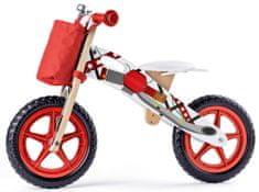 Woody bicikl s uzorkom motora, crveni