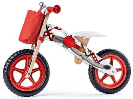 Woody poganjalec z motivom motorja, rdeč