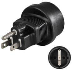 HAMA Adapter wtyczki podróżnej US, 3-biegunowy. 108880
