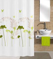 Kleine Wolke Textilný sprchový záves BARCELONA 180 x 200 cm ďatelinový