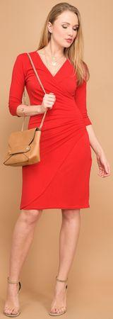 Un Coeur en Ete dámské šaty Orchidee 38 červená
