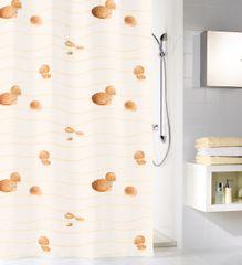 Kleine Wolke Textilný sprchový záves MIAMI 180 x 200 cm béžový
