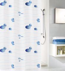 Kleine Wolke Tekstylna zasłona prysznicowa MIAMI 180 x 200 cm niebieski
