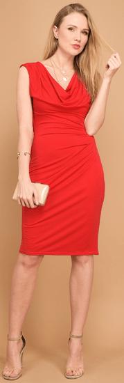 Un Coeur en Ete dámske šaty Iris 44 červená
