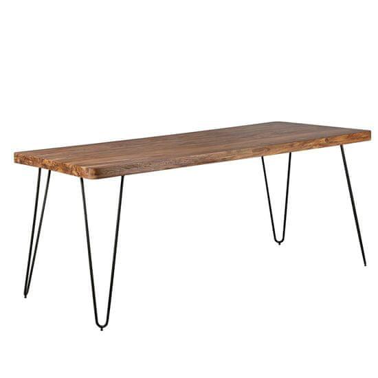 Bruxxi Jídelní stůl Bagli, 180 cm, masiv Sheesham