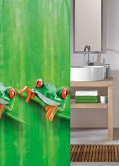 Kleine Wolke Sprchový PEVA záves CHARLIE 180 x 200 cm močiarovo zelený