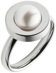 Skagen Ženski prstan iz jekla z bisernim SKJ0795040