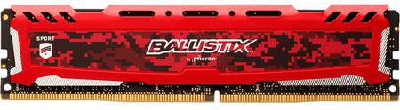Crucial pomnilnik (RAM) Ballistix Sport LT DDR4 8GB, 2400MT/S, UDIMM, CL16, rdeč (BLS2K8G4D32AESBK)