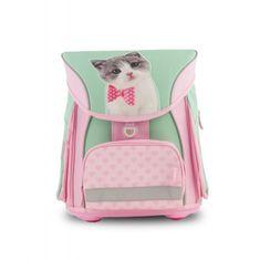 Studio Pets šolska torba, mačka z metuljčkom, s sprednjim predalom Fidlock