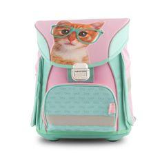 Studio Pets šolska torba, mačka z očali, s sprednjim predalom Metal Lock