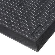 Černá gumová protiúnavová průmyslová rohož ESD, Skystep - 1,3 cm
