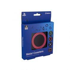 Paladone metalni podmetači PlayStation, 4 komada